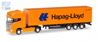 "Herpa 066723 Scania  R TL container semitrailer ""Hapag Lloyd"""